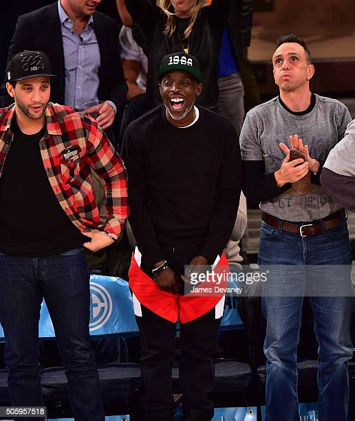 Michael K Williams attends the Utah Jazz vs New York Knicks game at Madison Square Garden on January 20 2016 in New York City