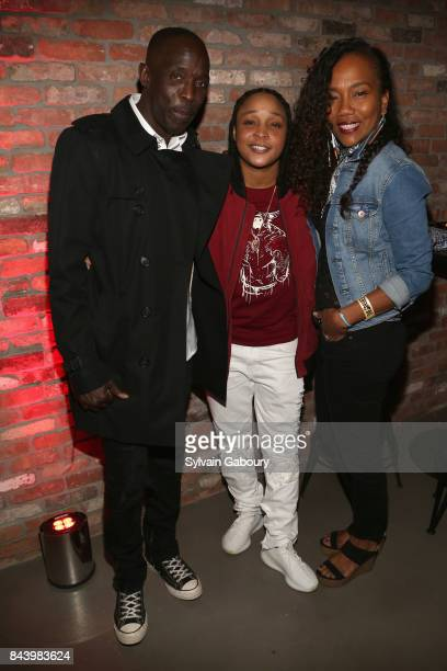 Michael K Williams Felicia Pearson and Sonja Sohn attend 'The Deuce' New York Premiere After Party at Second on September 7 2017 in New York City