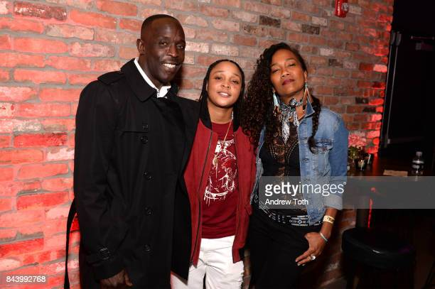 Michael K Williams Felicia Pearson and Sonja Sohn attend The Deuce New York premiere after party at SVA Theater on September 7 2017 in New York City