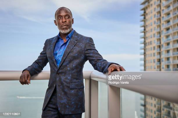 Michael K. Williams is seen in his award show look for the 27th Annual Screen Actors Guild Awards on March 31, 2021 in Miami, Florida. Due to...