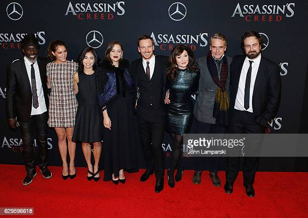 "Michael K. Williams, Michelle Lin, Marion Cotillard, Michael Fassbender, Essie Davis, and Jeremy Irons attend ""Assassin's Creed"" New York premiere at..."