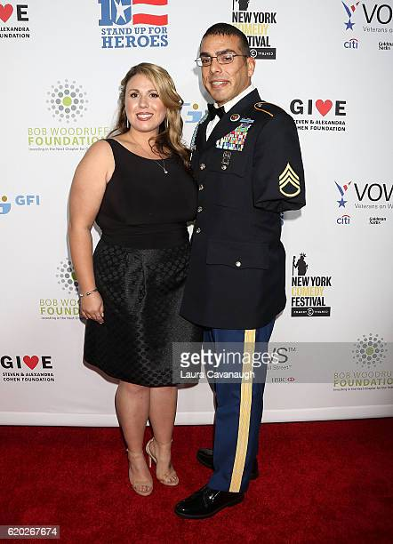 Michael Kacer and Jessica Schulman attend 10th Annual Stand Up For Heroes Arrivals at The Theater at Madison Square Garden on November 1 2016 in New...