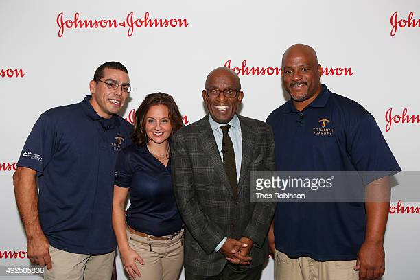 Michael Kacer Melissa Coduti Al Roker and Sean Johnson attend Johnson Johnson NBC's Triumph Games 2015 Talk with Al Roker and CEO of Johnson Johnson...