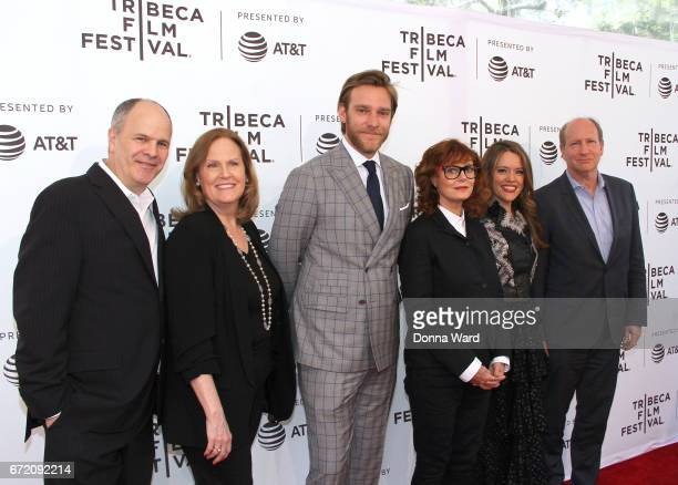 Michael Kantor Adam Haggiag Susan Sarandon Alexandra Dean and Doren Weber attend the 'Bombshell The Hedy Lamarr Story' Premiere at SVA Theatre on...