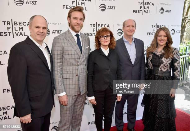 Michael Kantor Adam Haggiag Susan Sarandon Doron Weber and Alexandra Dean attend 'Bombshell The Hedy Lamarr Story' Premiere during the 2017 Tribeca...