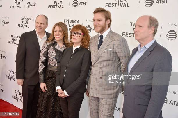 Michael Kantor Alexandra Dean Susan Sarandon Andrew Haggiag and Doron Weber attend 'Bombshell The Hedy Lamarr Story' Premiere during the 2017 Tribeca...