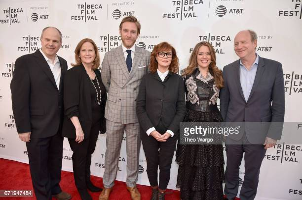 Michael Kantor Andrew Haggiag Susan Sarandon Alexandra Dean and Doron Weber attend 'Bombshell The Hedy Lamarr Story' Premiere during the 2017 Tribeca...