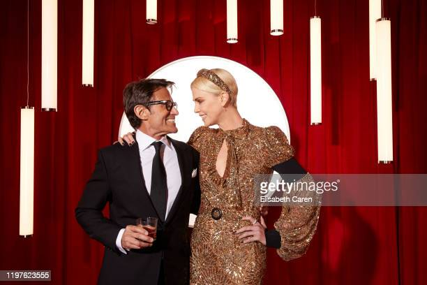 Michael Kaplan and Charlize Theron attend the 22nd Costume Designers Guild Awards at The Beverly Hilton Hotel on January 28 2020 in Beverly Hills...