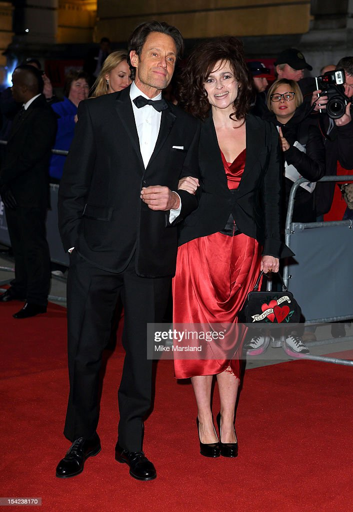 Michael Kaplan and Helena Bonham Carter attends the Hollywood Costume gala dinner at Victoria & Albert Museum on October 16, 2012 in London, England.