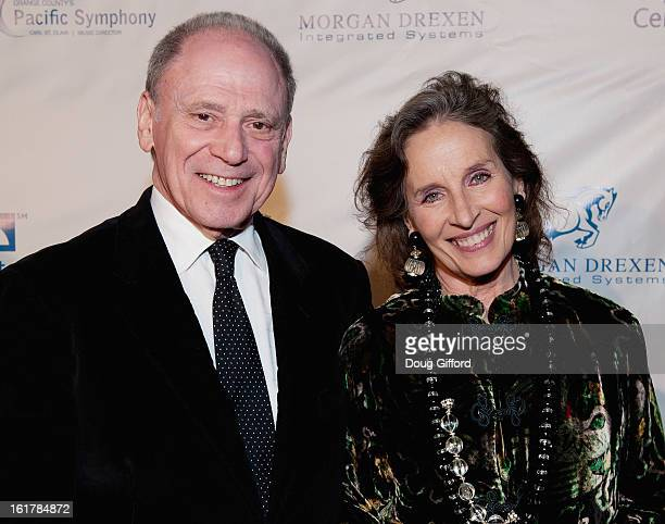 Michael Karm and Andrea Marcovicci arrive for the Kenny G performance with the Pacific Symphony 2013 Pops Series at Segerstrom Center For The Arts on...