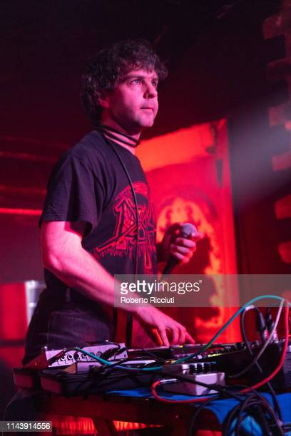 Michael Kasparis of Apostille performs on stageat The Hug And Pint on May 14 2019 in Glasgow Scotland
