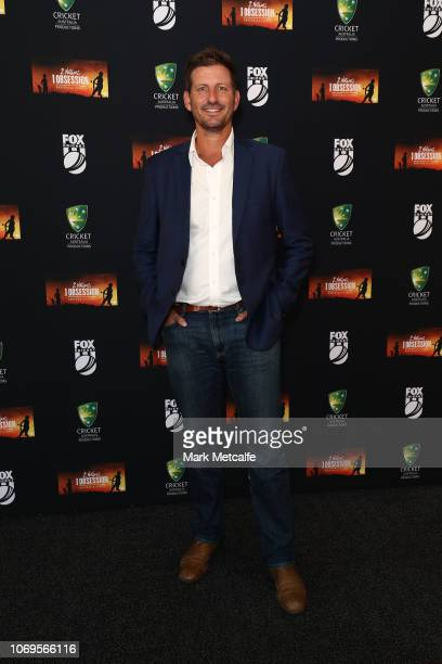 Michael Kasprowicz attends the 2 Nations 1 Obsession Premiere Screening at the Australian National Maritime Museum on November 19 2018 in Sydney...