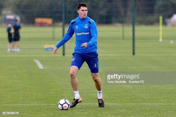 Michael Keane during the Everton FC training session at USM Finch Farm on July 25 2017 in Halewood England