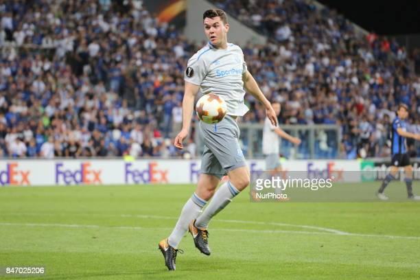 Michael Keane during the first match of Group E of the UEFA Europa League between Atalanta Bergamasca Calcio and FC Everton at Mapei StadiumCitt del...