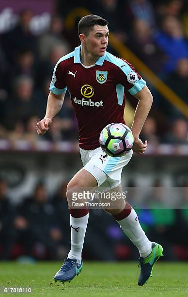 Michael Keane of Burnley during the Premier League match between Burnley and Everton at Turf Moor on October 22 2016 in Burnley England