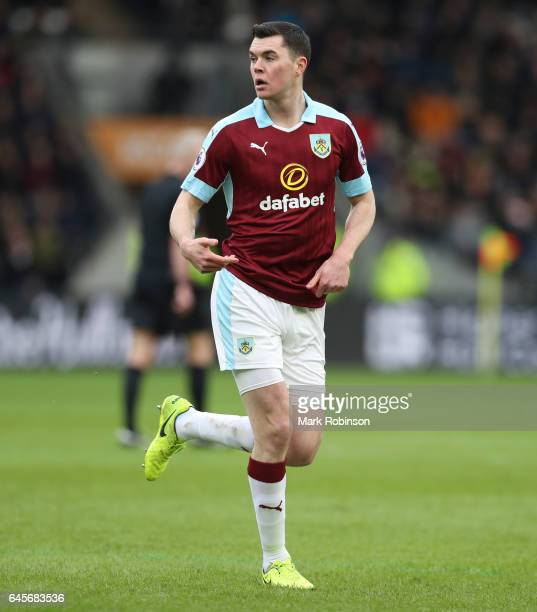 Michael Keane of Burnley during the Premier League match between Hull City and Burnley at KCOM Stadium on February 25 2017 in Hull England