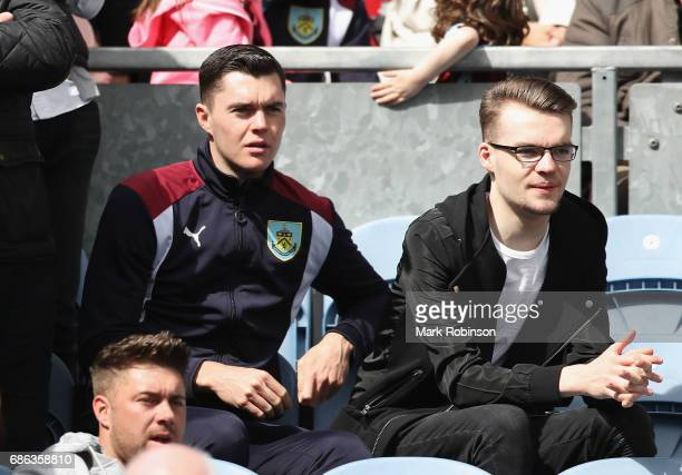 Michael Keane of Burnley looks on during the Premier League match between Burnley and West Ham United at Turf Moor on May 21 2017 in Burnley England