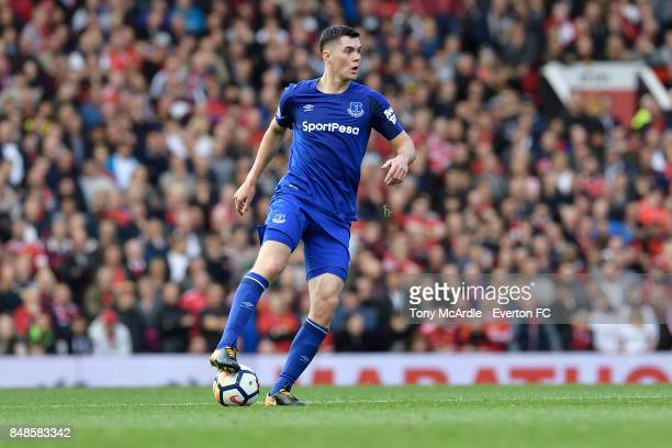Michael Keane of Everton during the Premier League match between Manchester United and Everton at Old Trafford on September 17 2017 in Manchester...