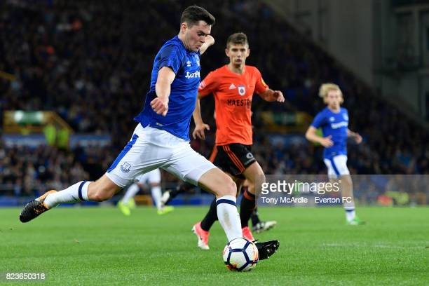 Michael Keane of Everton during the UEFA Europa League Third Qualifying Round First Leg match between Everton and Ruzomberok at Goodison Park on July...