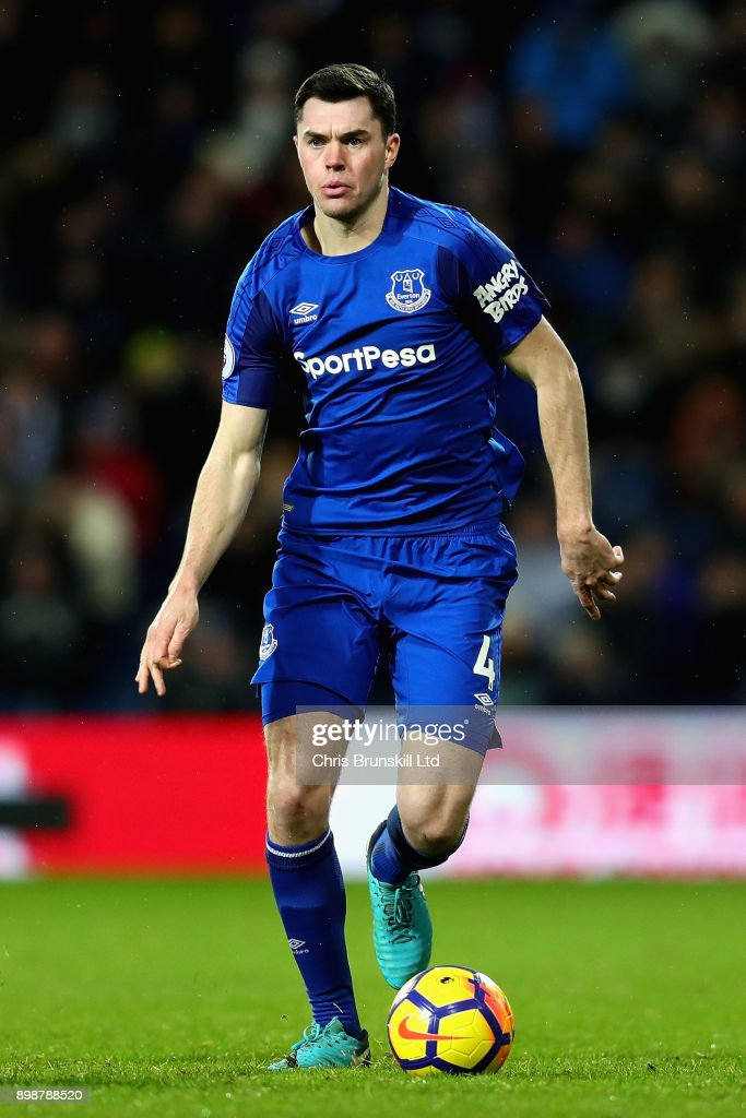 Michael Keane of Everton in action during the Premier League match between West Bromwich Albion and Everton at The Hawthorns on December 26, 2017 in West Bromwich, England.