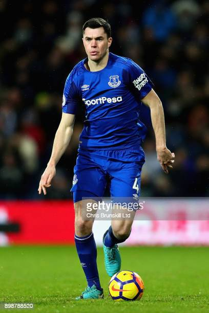 Michael Keane of Everton in action during the Premier League match between West Bromwich Albion and Everton at The Hawthorns on December 26 2017 in...