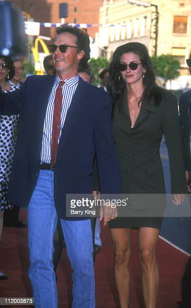 Michael Keaton and Courteney Cox at World Premiere of Batman Returns at Mann's Chinese Theatre in Hollywood California on June 16 1992