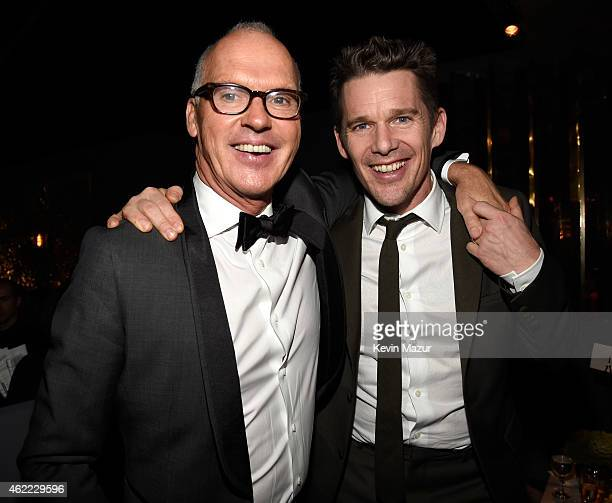 Michael Keaton and Ethan Hawke attend PEOPLE and the Entertainment Industry Foundation host the 21st Annual Screen Actor's Guild Awards after party...