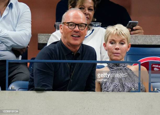 Michael Keaton at 2018 US Open on September 4 2018 in New York City