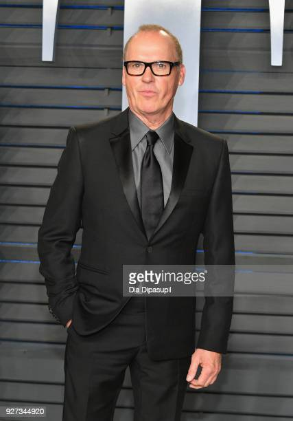 Michael Keaton attends the 2018 Vanity Fair Oscar Party hosted by Radhika Jones at Wallis Annenberg Center for the Performing Arts on March 4 2018 in...