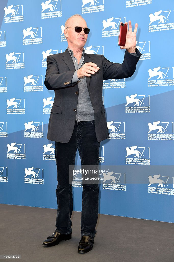 Michael Keaton attends the 'Birdman' photocall during the 71st Venice Film Festival on August 27, 2014 in Venice, Italy.