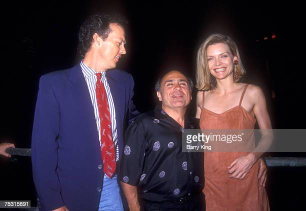 Michael Keaton Danny DeVito and Michelle Pfeiffer at World Premiere of Batman Returns at Mann's Chinese Theatre in Hollywood California on June 16...