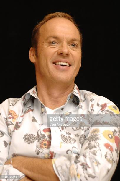 """Michael Keaton during """"Herbie Fully Loaded"""" Press Conference with Lindsay Lohan, Michael Keaton and Matt Dillon at Century Plaza in Los Angeles,..."""