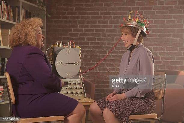 LIVE Michael Keaton Episode 1679 Pictured Aidy Bryant and Vanessa Bayer during the Neurotology Music Video skit on April 4 2015