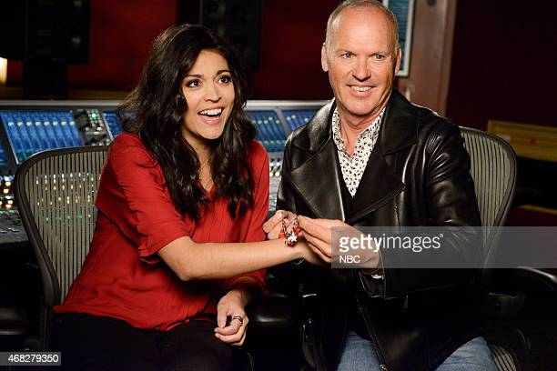 LIVE Michael Keaton Episode 1679 Pictured Cecily Strong and Michael Keaton on March 31 2015
