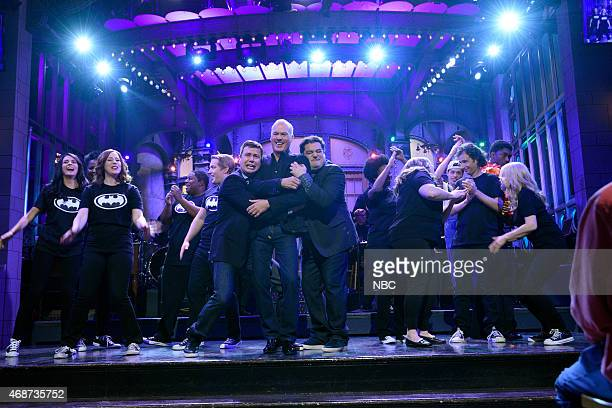 LIVE Michael Keaton Episode 1679 Pictured Cecily Strong Vanessa Bayer Kenan Thompson Beck Bennett Taran Killam Michael Keaton Bobby Moynihan Sasheer...