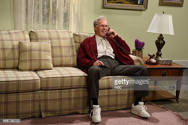 LIVE Michael Keaton Episode 1679 Pictured Michael Keaton during the Easter Hotline skit on April 4 2015