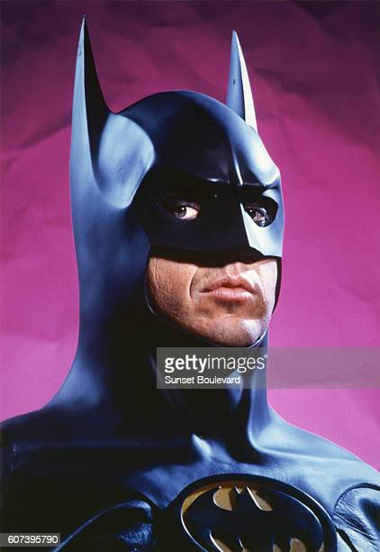Michael Keaton on the set of Batman