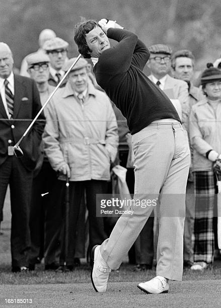 Michael Kelley of Engalnd during the final day of the 1979 Walker Cup Matches at the Honourable Company of Edinburgh Golfers Muirfield on May 31 1979...
