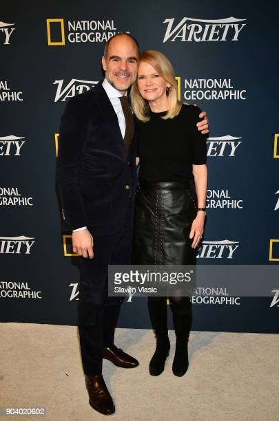 Michael Kelly and Martha Raddatz visit Variety's inaugural 'Salute To Service' at Cipriani 25 Broadway on January 11 2018 in New York City