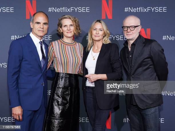 Michael Kelly Melissa Gibson Robin Wright and Frank Pugliese attend the FYC event for Netflix's House Of Cards at Netflix FYSEE At Raleigh Studios on...