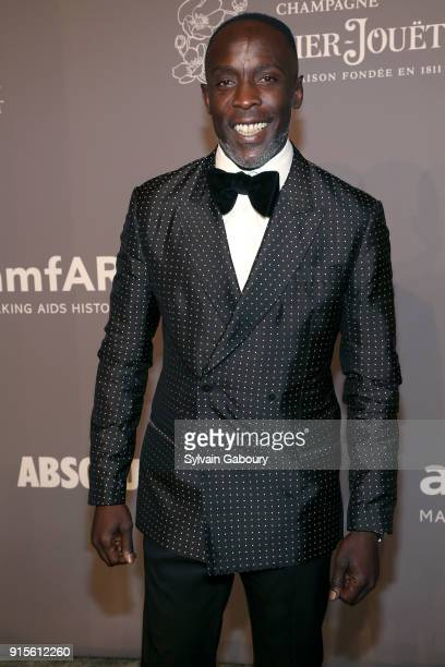 Michael Kenneth Williams attends 2018 amfAR Gala New York Arrivals at Cipriani Wall Street on February 7 2018 in New York City