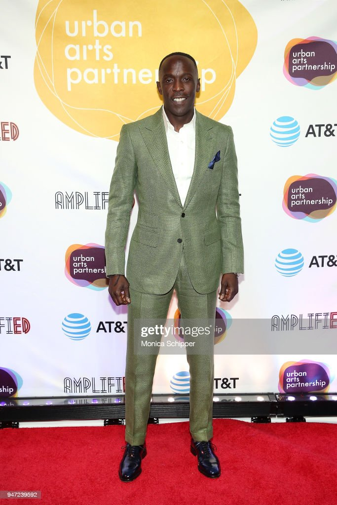 Michael Kenneth Williams attends the Urban Arts Partnership's AmplifiED Gala at The Ziegfeld Ballroom on April 16, 2018 in New York City.