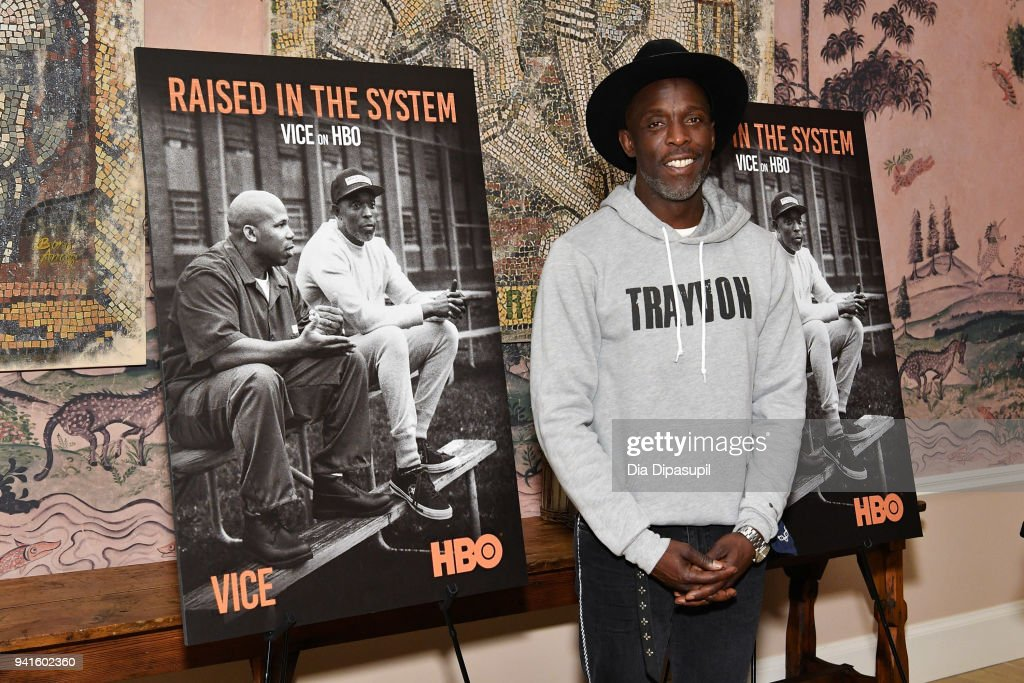 Michael Kenneth Williams attends the 'Vice' Season 6 Premiere at the Whitby Hotel on April 3, 2018 in New York City.