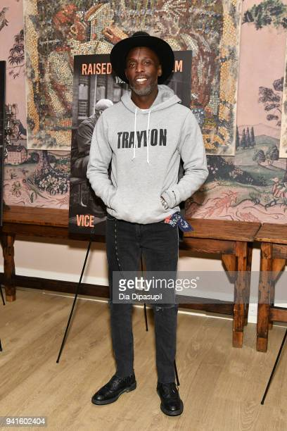 Michael Kenneth Williams attends the 'Vice' Season 6 Premiere at the Whitby Hotel on April 3 2018 in New York City