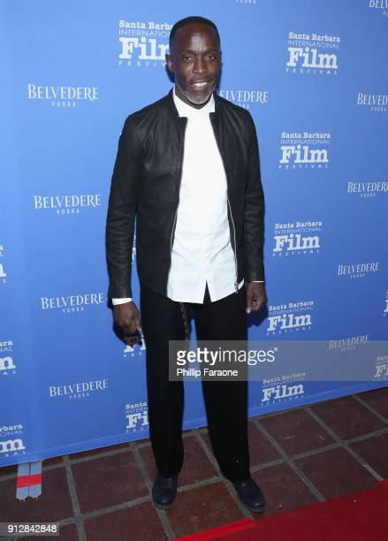 Michael Kenneth Williams celebrates with Belvedere Vodka at Santa Barbara Film Festival's Opening Night at Arlington Theatre on January 31 2018 in...