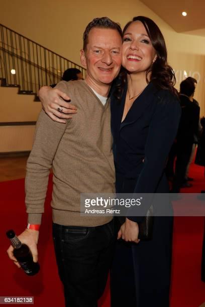 Michael Kessler and Carolin Kebekus attend 'Schatz Nimm Du sie' German movie premiere at Cineplex Cologne on February 7 2017 in Cologne Germany