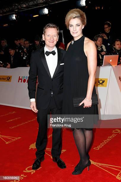 Michael Kessler and Constanze Darschin attend the 'Goldene Kamera 2013' on February 2, 2013 in Berlin, Germany.