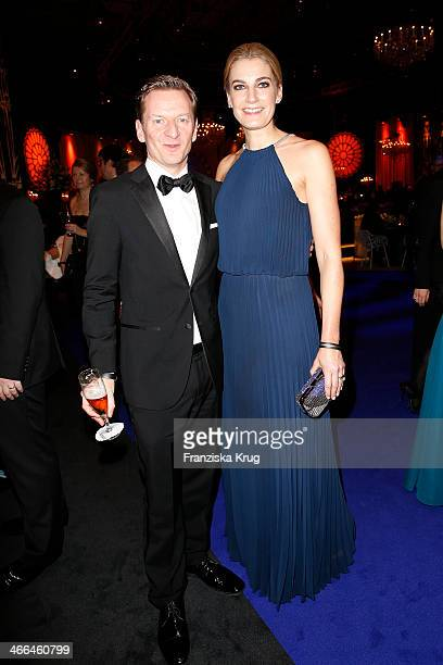 Michael Kessler and Constanze Darschin attend the Goldene Kamera 2014 at Tempelhof Airport on February 01, 2014 in Berlin, Germany.