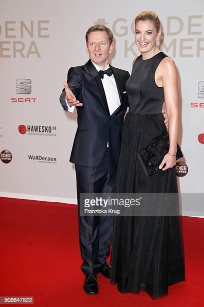 Michael Kessler and Constanze Darschin attend the Goldene Kamera 2016 on February 6, 2016 in Hamburg, Germany.