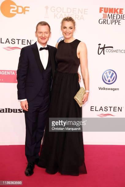 Michael Kessler and Constanze Darschin attend the Goldene Kamera at Tempelhof Airport on March 30, 2019 in Berlin, Germany.